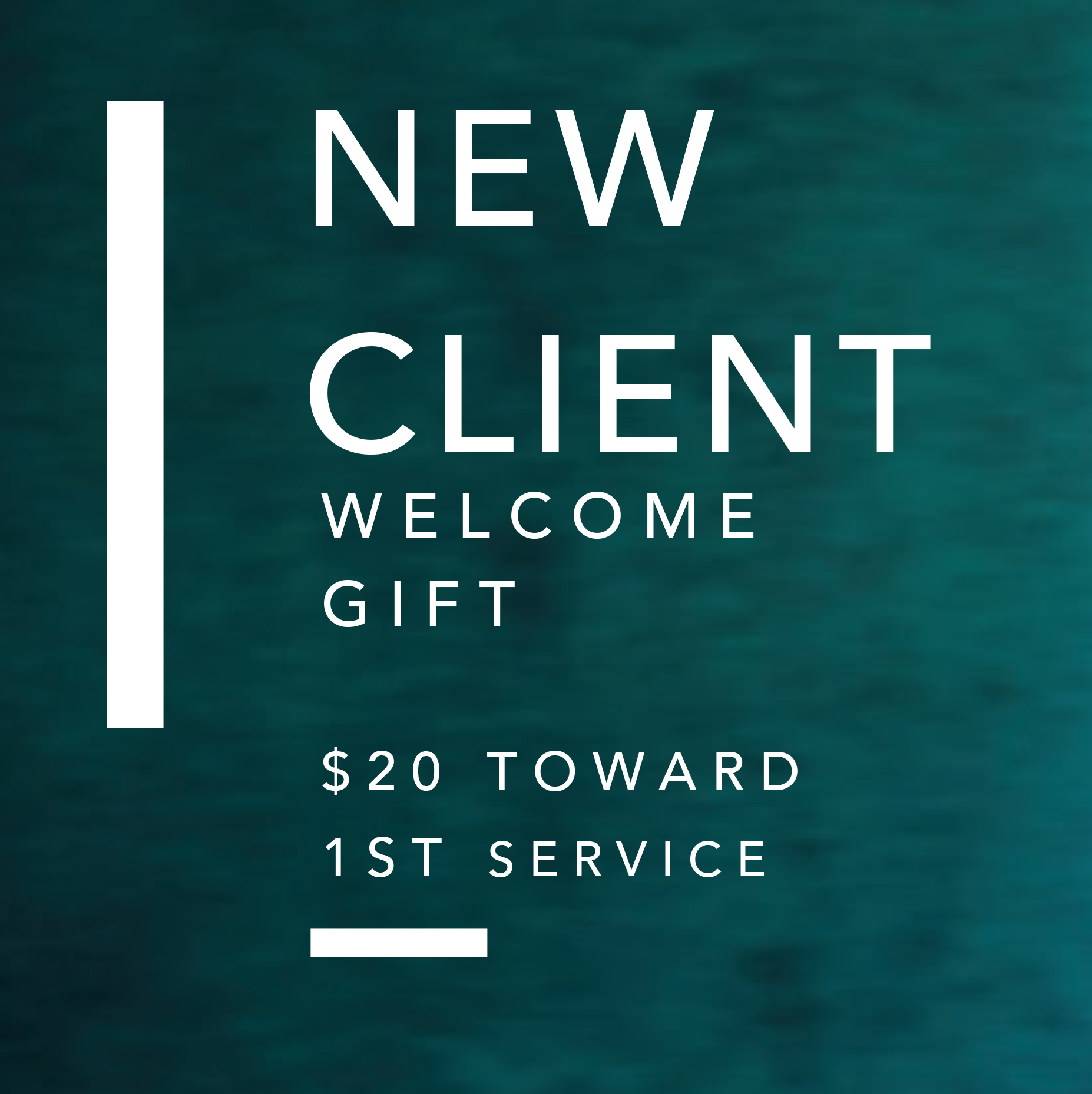 NEW CLIENT WELCOME water background